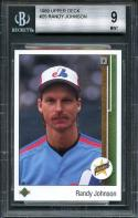 1989 upper deck #25 RANDY JOHNSON montreal expos rookie card BGS 9 (9 9 9 8.5)