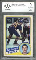 1984-85 o-pee-chee #17 DAVE ANDREYCHUK buffalo sabres rookie card BGS BCCG 9