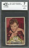 1951 topps ringside #24 JAMES J. BRADDOCK boxing BGS BCCG 7