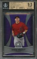 2010 bowman platinum prospects purple ref #5 MIKE TROUT rookie BGS 9.5 9 9.5 9.5