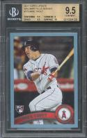 2011 topps update wal mart blue border #175 MIKE TROUT rc BGS 9.5 (9.5 9 9.5 10)