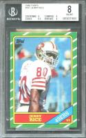 1986 topps #161 JERRY RICE san francisco 49ers rookie card BGS 8 (8 8 8.5 9)