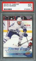 2016-17 upper deck canvas #c91 MITCH MARNER toronto maple leafs rookie PSA 9