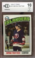 1976-77 topps #115 BRYAN TROTTIER islanders rookie card (CENTERED) BGS BCCG 10