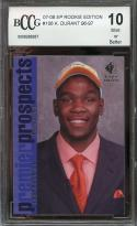 2007-08 sp rookie edition #106 KEVIN DURANT warriors rookie card BGS BCCG 10
