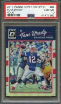 2016 panini donruss optic holo #62 TOM BRADY new england patriots PSA 10