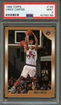 1998-99 topps #199 VINCE CARTER toronto raptors rookie card PSA 9