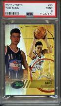 2002 e-topps #53 YAO MING houston rockets rookie card PSA 9