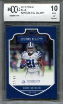 2016 panini blue #209 EZEKIEL ELLIOTT dallas cowboys rookie card BGS BCCG 10