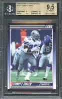 1990 score supplemental #101t EMMITT SMITH rookie card BGS 9.5 (9 9.5 9.5 9.5)