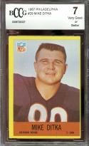 1967 philadelphia #29 MIKE DITKA chicago bears BGS BCCG 7