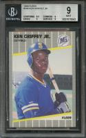 1989 fleer #548 KEN GRIFFEY JR seattle mariners rookie card BGS 9 (8.5 9 9 9)